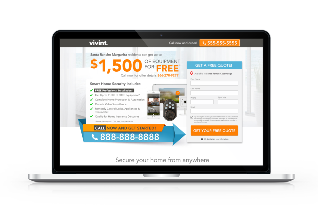 Point A Solutions - vivint display