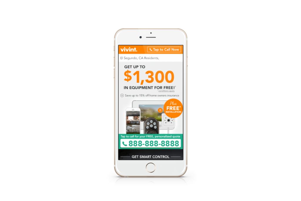 Point A Solutions - vivint mobile display